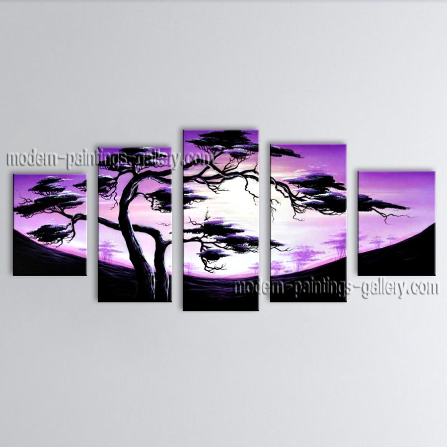 5 Pieces Contemporary Wall Art Landscape Painting Decoration Ideas