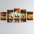 Pentaptych Contemporary Wall Art Landscape Painting On Canvas Artworks