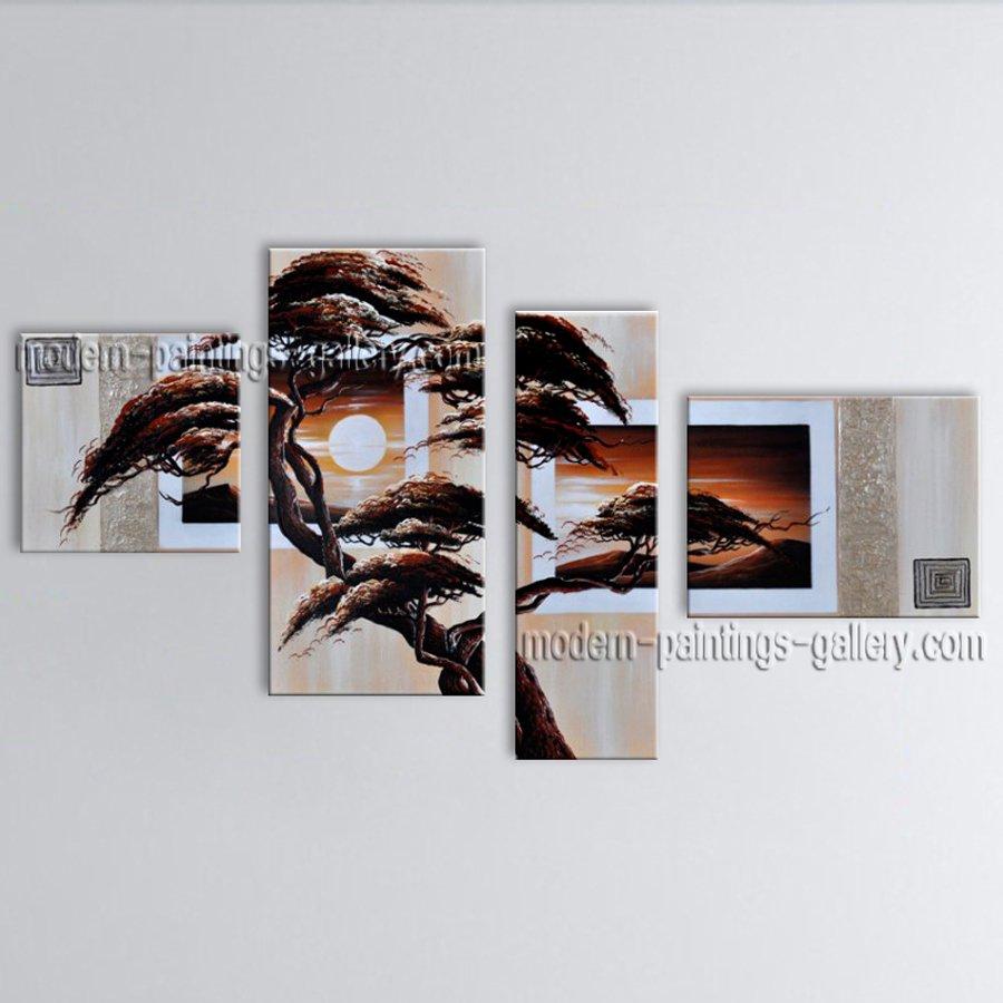 Handmade Large Contemporary Wall Art Landscape Painting Interior Design
