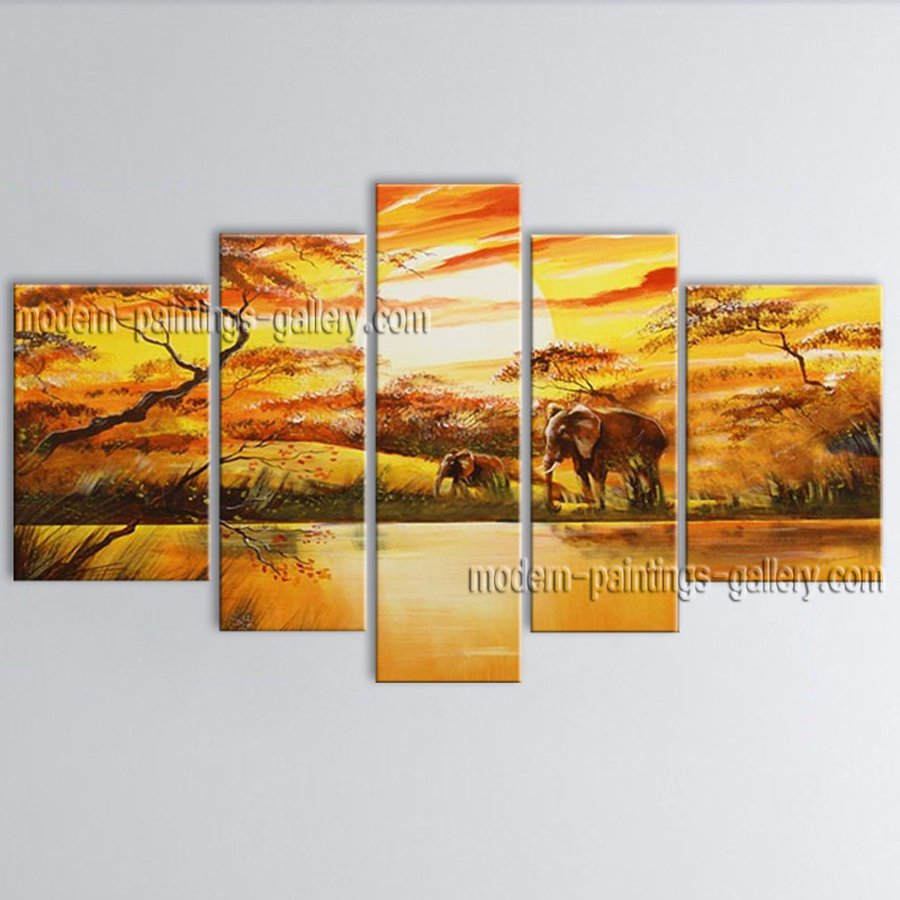 Hand Painted Large Contemporary Wall Art Landscape Painting Ready To Hang