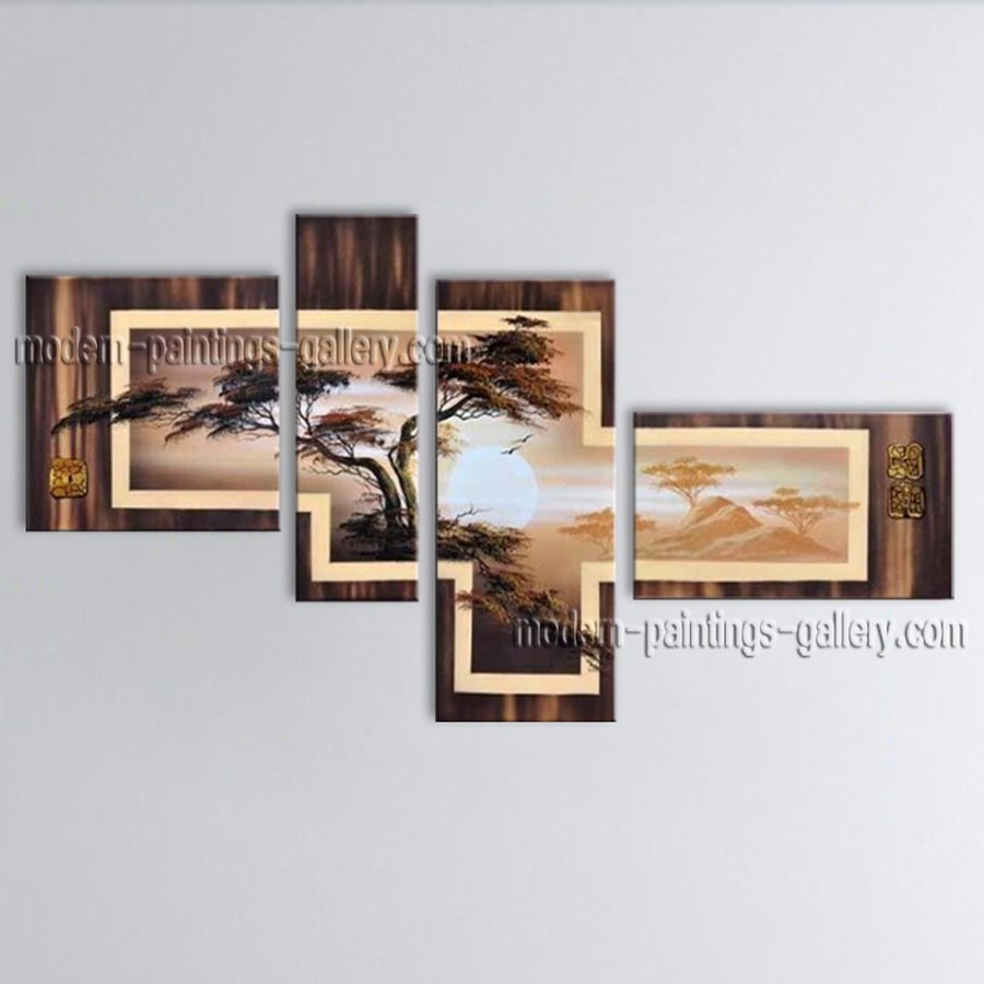 Large Contemporary Wall Art Landscape Painting Tree Contemporary Decor