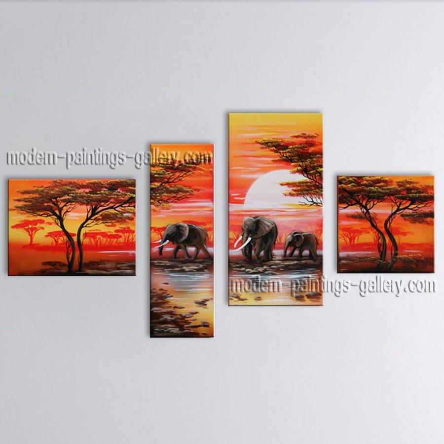 Handmade Large Contemporary Wall Art Landscape Painting Decoration Ideas