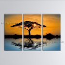 Stunning Contemporary Wall Art Landscape Painting Tree Inner Framed
