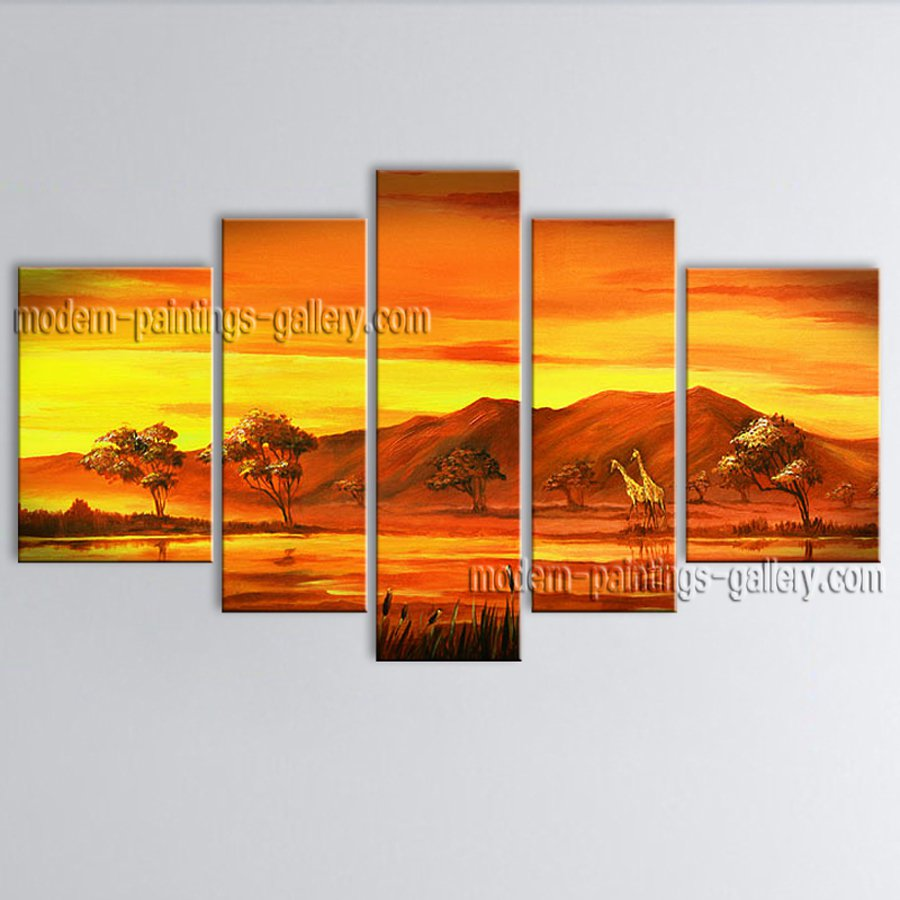Handmade Large Contemporary Wall Art Landscape Painting Canvas Stretched