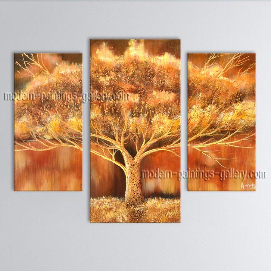 Stunning Contemporary Wall Art Landscape Painting Tree Contemporary Decor