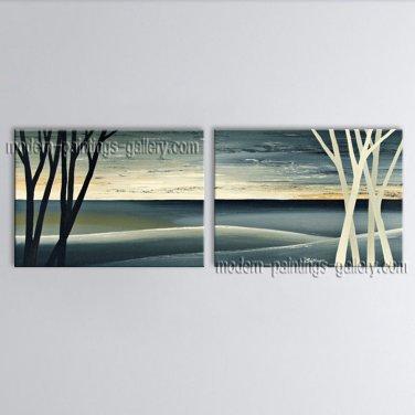 Handmade Stunning Contemporary Wall Art Landscape Painting Interior Design
