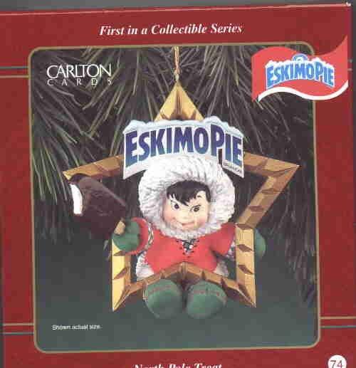Carlton Ornament ~ North Pole Treat 1998 ~ Eskimo Pie