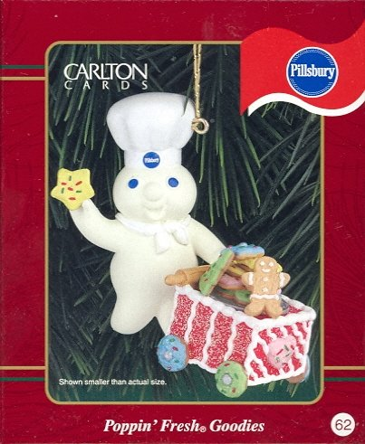 Carlton Ornament ~ Poppin Fresh Goodies 1999 ~ Pillsbury Doughboy