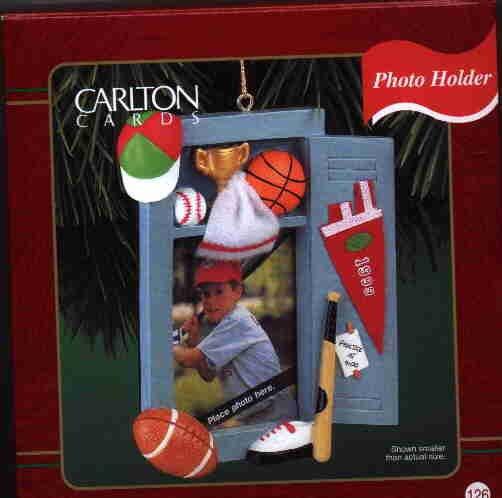 Carlton Ornament ~ Sports Spotlight 1999 ~ Photoholder