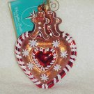 Christopher Radko Glass Ornament ~ Ginger Sweet Street Heart & Gingerbread Boys