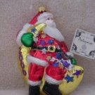 Polonaise Blown Glass Ornament ~ Santa on a Moon 2000