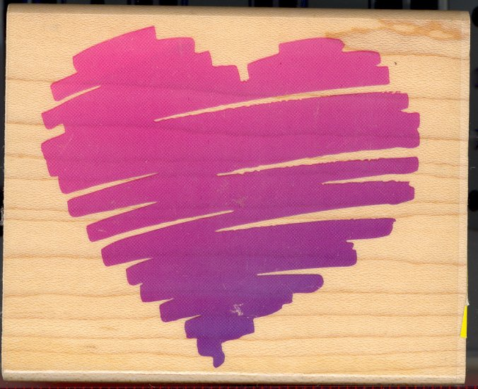 Sketch of My Heart ~ Rubber Stamp ~ NEW