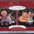 Hallmark Ornament ~ Friend of My Heart 1998 ~ set of 2 mice
