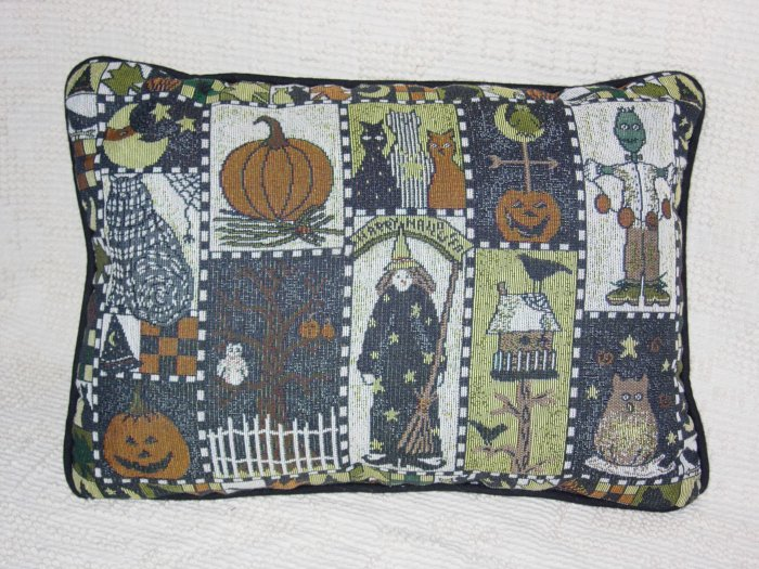 Halloween Tapestry Pillow