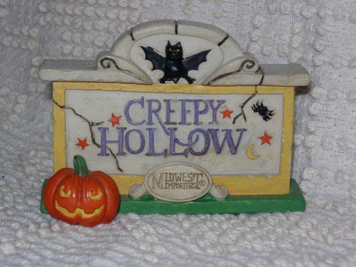 Creepy Hollow ~ Creepy Hollow Sign ~ Retired