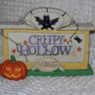 Creepy Hollow ~ Creepy Hollow Sign ~ Retired