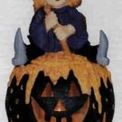 Witch on a Black Pumpkin by Spooky Hollow (Lighted)