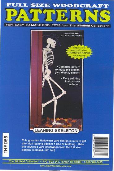 Leaning Skeleton ~ Woodcraft Pattern ~ 69 in tall