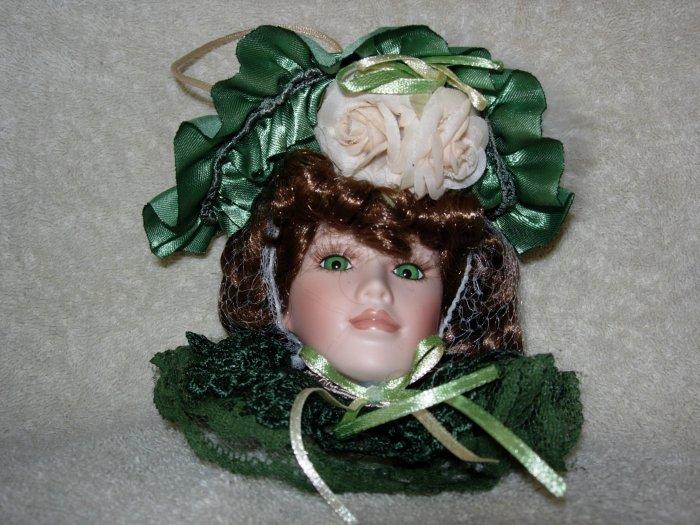 Irish Lady Head Ornament