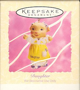 Hallmark Spring Ornament ~ Daughter 1994