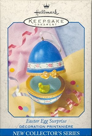 Hallmark Spring Ornament ~ Easter Egg Surprise 1999