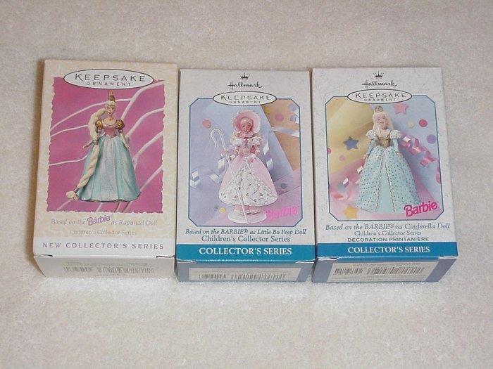 3 Hallmark Spring Ornaments Childrens Collector Barbie
