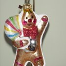 Fitz and Floyd Glass Ornament ~ Gingerbread Boy