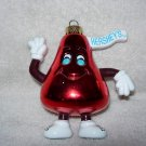 Red Hershey Kiss Ornament