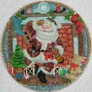 Old World Santa ~ Fireplace ~ 3-dimensional Plate