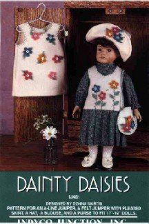17 to 19 inch Doll Clothes Pattern ~ Dainty Daisies