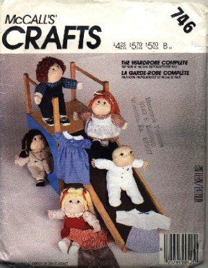 McCall's # 746 ~ 16'' & 18'' Soft Sculpted Doll Wardrobe ~ Cabbage Patch