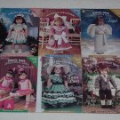 Choice of 2 Doll Clothes Crochet Patterns ~ 6 Different Designs