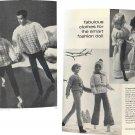 5 old Barbie & Ken Knit Patterns ~ 1973 ~ Robe, Kabuki Pantsuit, Norwegian set, Ski outfit, etc...