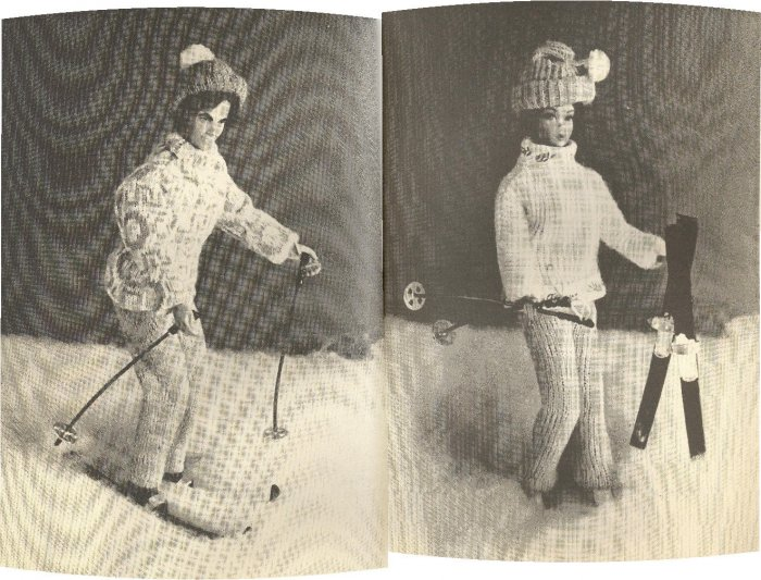 Barbie & Ken Knit Patterns ~ His & Hers Ski Outfits ~ 1978
