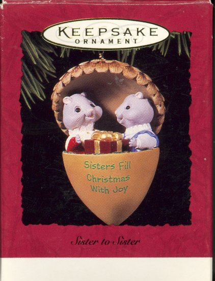 Hallmark Ornament ~ Sister to Sister 1994