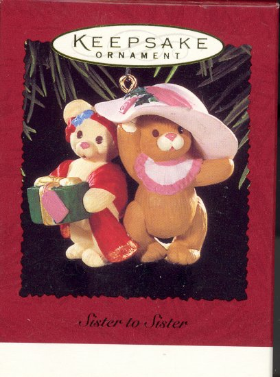 Hallmark Ornament ~ Sister to Sister 1996