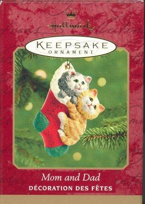 Hallmark Ornament ~ Mom and Dad 2001 ~ Cats