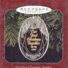 Hallmark Ornament ~ Our First Christmas Together 1998 ~ Acrylic