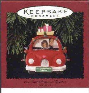 Hallmark Ornament ~ Our First Christmas Together 1995 ~ Photoholder