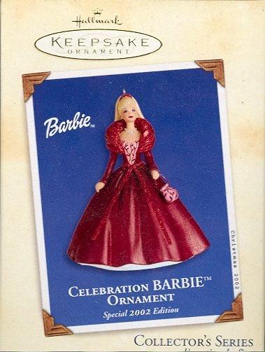 Hallmark Ornament ~ Celebration Barbie 2002 ~ Celebration Barbie series