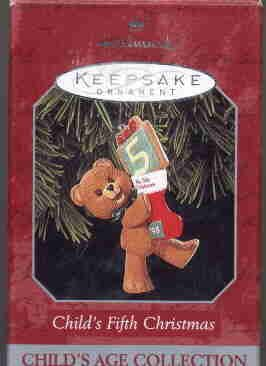 Hallmark Ornament ~ Child's Fifth Christmas 1998