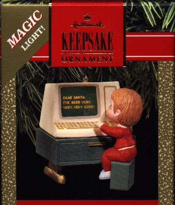 Hallmark Magic Ornament ~ Letter to Santa 1990