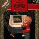 Hallmark Magic Ornament ~ Letter to Santa 1990