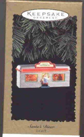 Hallmark Magic Ornament ~ Santas Diner 1995