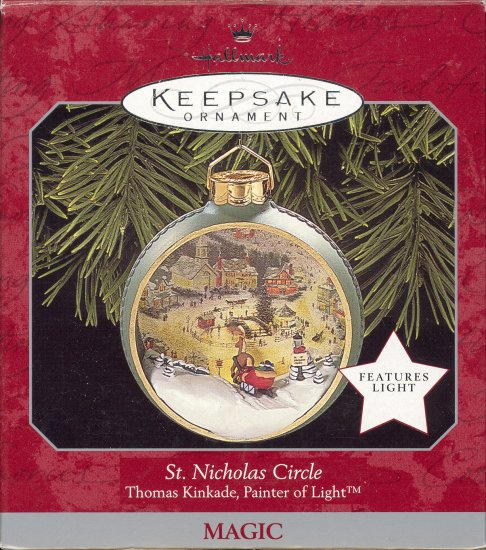 Hallmark Magic Ornament ~ St Nicholas Circle 1998 ~ Thomas Kinkade