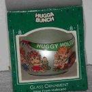 Hallmark Glass Ornament ~ Hugga Bunch 1985