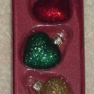 Hallmark Glass Ornament ~ Lil Hearts 2000