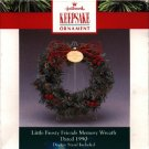 Hallmark Miniature Ornament Wreath ~ Frosty Friends Memory Wreath 1990