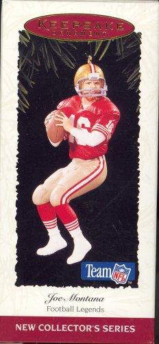 Hallmark Ornament ~ Joe Montana 1995 ~ SF 49ers ~ Football Legends series
