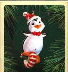 Hallmark Ornament ~ Peppermint Penguin 1983